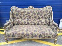 Antique Gilt Framed Sofa, Perfect for Bar, Club, Hair Salon?