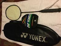 Yonex duora 10 with BG65 strings 24lb tension