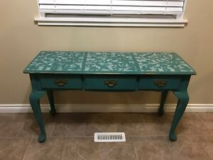 Shabby chic solid wood sofa table/side table/tv stand