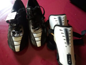 children's cleets and shin pads