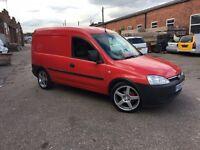 Vauxhall combo van with rear seats