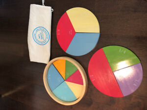 Pottery Barn Wooden Math Fractions Puzzle