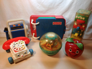 Lot jouets fisher price vintage retro games