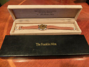 FRANKLIN MINT FREDERIC REMINGTON SILVER WATCH