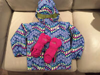 The North Face toddler jacket/snow pants and mittens