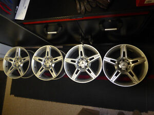 """MAGS MERCEDES AMG 17"""" 5 BRANCHES SILVER  COULEUR ARGENT/ SILVER"""