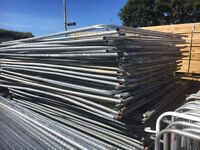 Used Heras Style Security Fencing * 3.45 X 2m