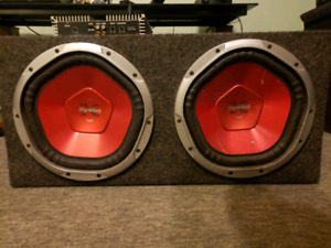 "2 Sony Xplod  10"" 1200 watts Subwoofer with Amplifier"