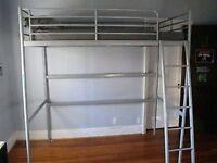 Ikea Svarta Loft Bed Grey Metal