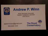 Music Theory and Piano Teacher - RCM Certified