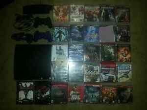PS3 Slim 120GB, 27games and extras