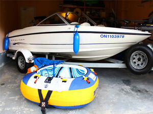 Fully equipped fishing boat and family bow-rider in one package.