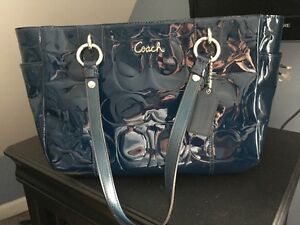 Navy Blue/Teal Coach Purse - great condition