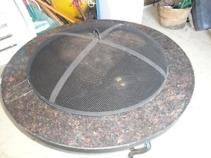HEAVY DUTY FIRE PIT – WROUGHT IRON & GRANITE - NEW (Paid $600)