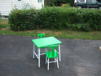 Table & 2 chair's ** shelving unit's **