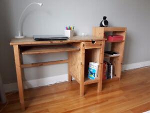 Bureau de travail et meuble rangement