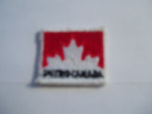 PETRO CANADA EMBROIDERED SEW ON BADGE