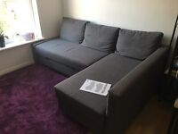 Chaise sofa / bed & storage - grey - £299