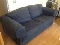 FREE M&S Blue floral pattern sofa, good condition