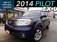 2014 Honda Pilot EX-L 4WD (1) owner with leather and sunroof