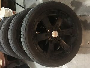 "22"" Chevrolet rims and low profile tires"