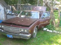 1981 chev impala FOR SALE 1500 OR TRADE FOR RUNNING CAR