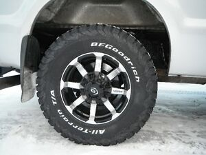 Ford F250 8 bolt aluminum rims and BF Goodrich TA's