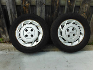 Rims with winter tires (4 x 108 bolt pattern)