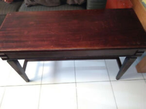 Vintage Piano Stool Solid Wood w/Storage Seat