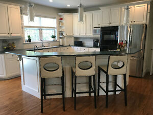 Two level island with Thermador Cooktop for sale