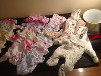 LOT OF BRAND NEW 0 to 6 MONTHS BABY GIRL CLOTHES