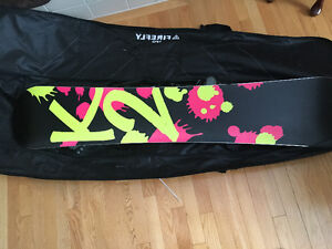Snowboard K2 Skyla 154 board, k2 auto bindings and firefly bag.