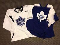 2 Toronto Maple Leafs practice jerseys (ccm & reebok)