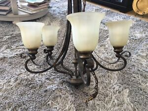 SALE: 2 Celing Lights and 2 chandeliers