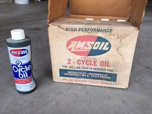 Case of 12 AMSOIL 2 Cycle Synthetic Oil