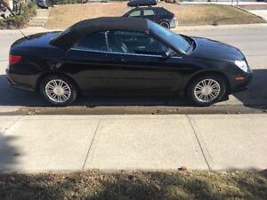 2009 Chrysler Sebring black Convertible