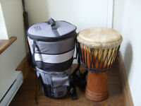 Djembe, sac de transport