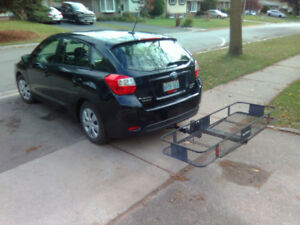 Hitch mounted basket carrier