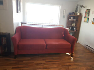 1 wingback chair, 1 oversized chair, 1 sofa - $300 OBO