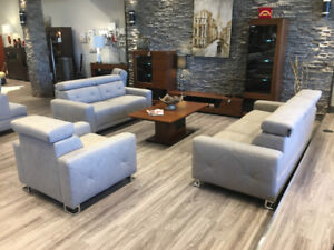 SOFA SET (3+2+1) LIFE - MADE IN EUROPE - HIGH QUALITY FABRIC