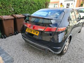 2008 58 Reg Honda Civic 1.8 i-vtec ES 5dr 1798 cc