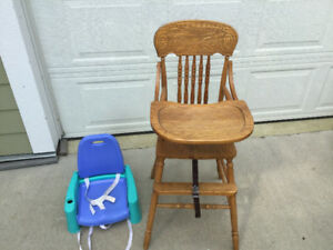 High Chair Oak Good Condition