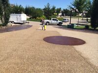 Driveway sealing by EDS concrete sealing professionals
