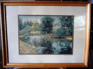 """Antique Colored Photo After Wallace Nutting """"Reflections"""" 1920's Stratford Kitchener Area image 1"""
