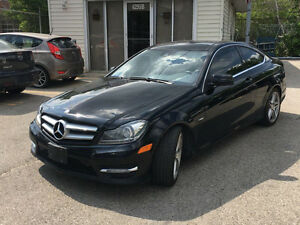 2012 Mercedes-Benz C350 coupe AMG PKG RED LEATHER LOW KMS