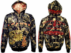 """Christian Audigier Authentic Large Hoodie """"Loaded"""""""