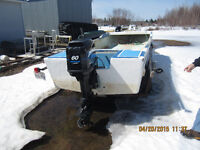 18' FIBERGLASS SKIFF WITH TRAILER, AVAILABLE MAY 1, DUE TO SNOW