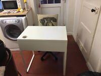 IKEA Micke desk and IKEA Alrik swivel chair