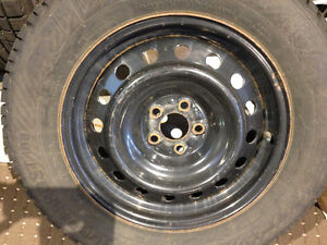 Tires on steel wheels (4x) was on Subaru Outback 2009 225/60R/16 West Island Greater Montréal image 6