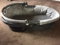Quinny Buzz black and grey Carrycot FREE TO GOOD HOME